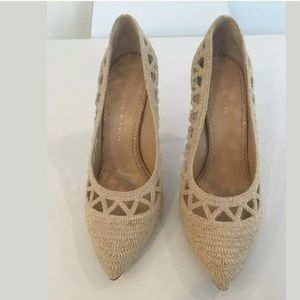 New Charlotte Olympia woven harvest pumps