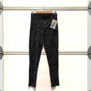Rewash Pants - Rewash faux suede leather black leggings M *New!*