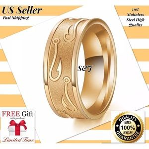 Jewelry - Tungsten steel band wedding men women ring
