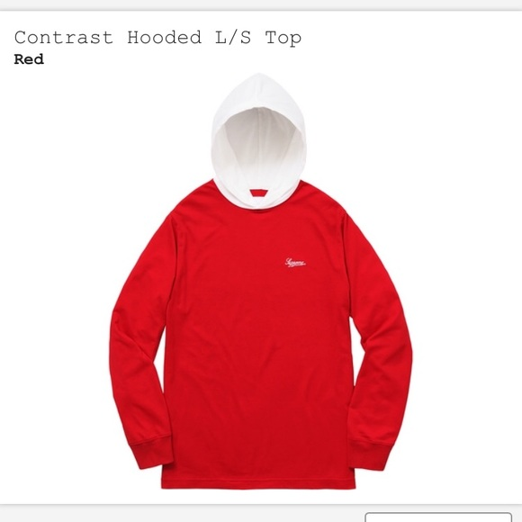 49fa900a29fa Supreme contrast hoodie