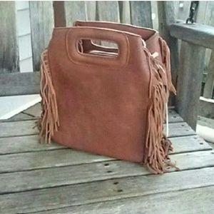 Handbags - Last One! Brown Suede Purse