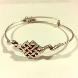 Alex and Ani Endless Knot Silver bracelet