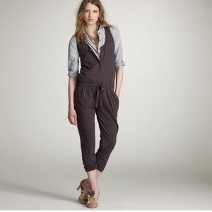 J Crew slub cotton jumpsuit