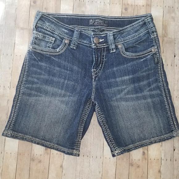 78% off Silver Jeans Pants - Silver Jeans Suki Flap Short ( W27 ...