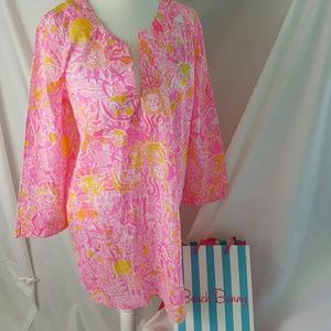 Lilly pulitzer tunic beach cover up Medium