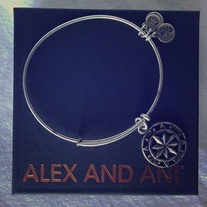 Alex and Ani Compass Charm Bracelet