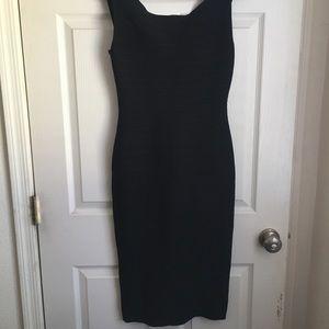 Black Herve Leger bandage dress