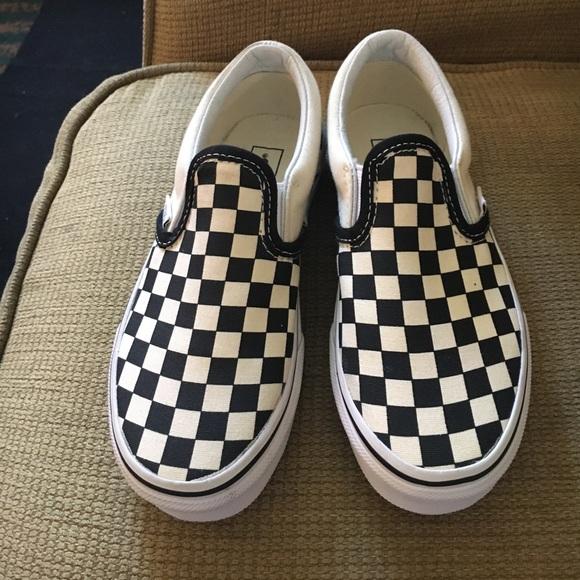 little kid checkered vans