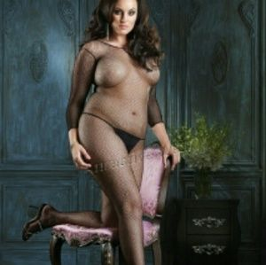 Accessories - Plus Size Long Sleeved Fishnet Bodystocking