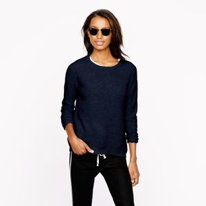 J. Crew Elbow Patch Sweater in navy