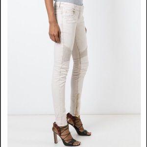Balmain Denim - 💯Authentic Balmain cream jeans with gold zippers