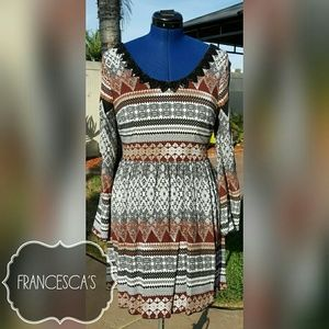 Francesca's Tribal Print Dress