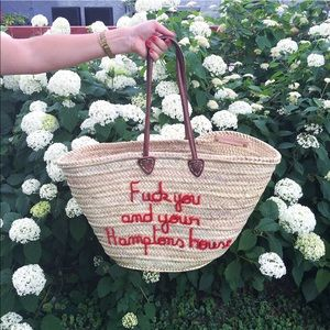 Poolside Handbags - Poolside F*ck You And Your Hamptons House Tote