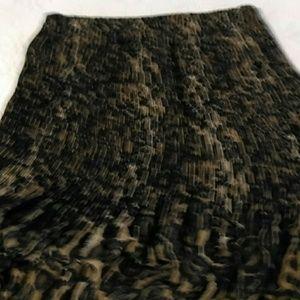 Allison Taylor Dresses & Skirts - Cheetah Chifon crinkle skirt