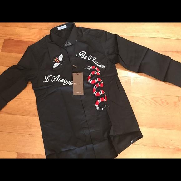 gucci dress shirts. snake style gucci dress shirt size m-xl shirts