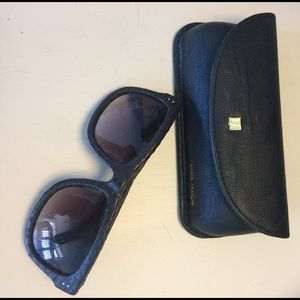 Linda Farrow Accessories - Leather sunglasses by Linda Farrow