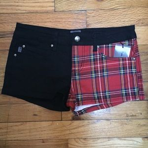 Tripp nyc Pants - NWT Tripp NYC tartan denim shorts size 27