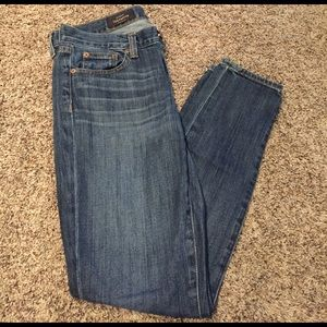 J. Crew toothpick ankle jeans