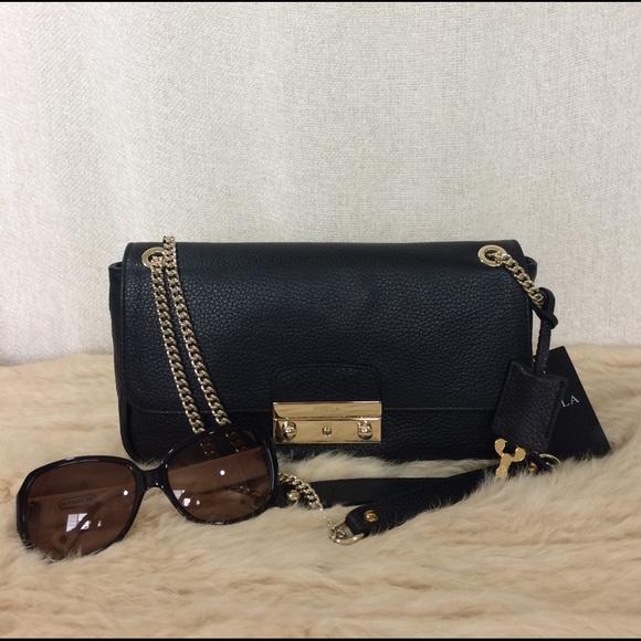 3cc2f71a4d240 Furla Black Leather Julia Shoulder Bag