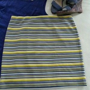 Ann Taylor Dresses & Skirts - Ann Taylor Stretchy Striped Skirt sz 14