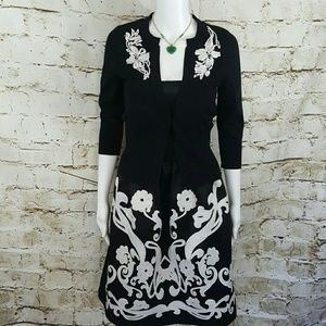 White House Black Market Dresses & Skirts - White House Black Market satin embroidery dress