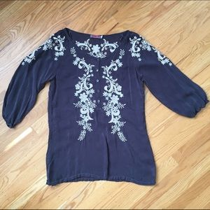 Johnny Was Tops - Johnny Was embroidered blouse