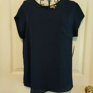 Lily White Tops - SALE!! Pretty polka dot blouse