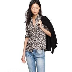 J. Crew Perfect Shirt in Cheetah print