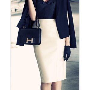 Hermes Twill pencil skirt