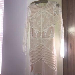 Sandro Paris lace mesh dress