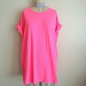 Vintage Dresses & Skirts - Hot Pink 🍭Baggy Shirt Dress!