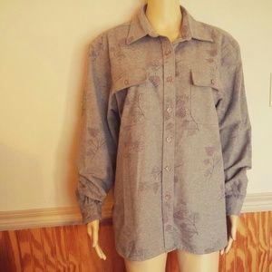 SALE L.L. Bean 100% Cotton Heavy Flannel Button Up