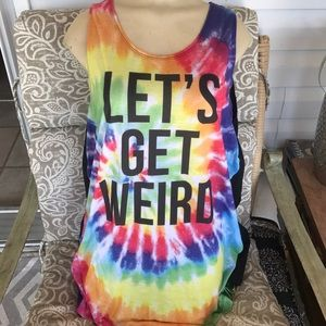hybrid Other - Men's extra-large 46/48 tie-dye graphic tank top
