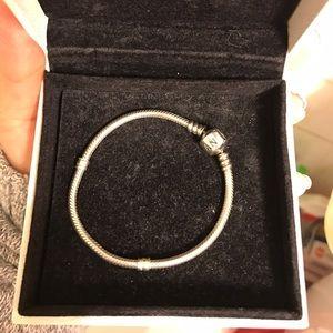 Pandora Bracelet Sterling Silver Barrel Clasp