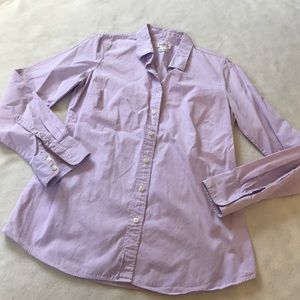 J. Crew Tops - J Crew Haberdashery Lavender Button Up Shirt