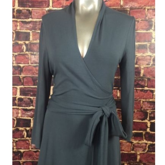 Banana Republic Dresses - Charcoal Grey Banana Republic Wrap Dress