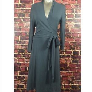 Charcoal Grey Banana Republic Wrap Dress