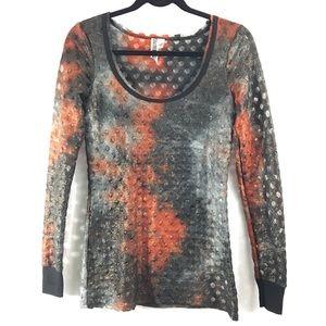BKE Tops - BKE metallic long sleeve shirt
