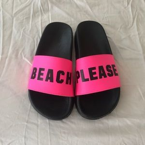 5c6340ffcec9f PINK Victoria s Secret Shoes - VS PINK💗hot pink beach please slide sandals