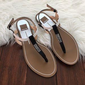 Dolce Vita Shoes - Dolce Vita Black & White Thong Gladiator Sandals