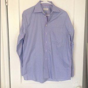 Eton Other - Eton Classic Blue Pink Striped Shirt 15 1/2 39 GUC