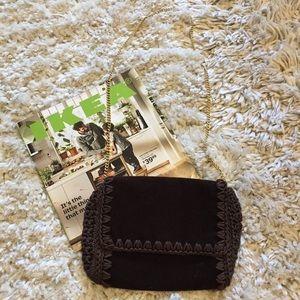 Vintage Velvet and Macrame Purse