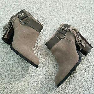 Kensie Shoes - Beautiful Kensie Taupe Suede Booties