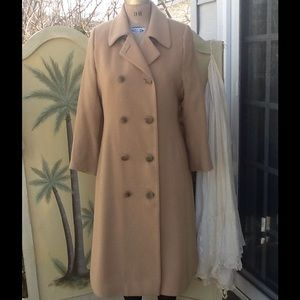 Vtg 100% Camel Hair Dbl Breasted Coat