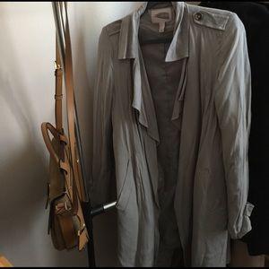 Khaki/ gray duster coat