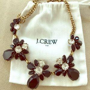 J. Crew Flower Fringe Necklace