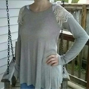 Tops - Lace Shoulder Tunic