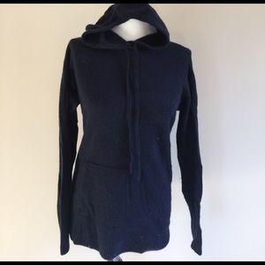 J. Crew Sweaters - 100 percent cashmere j crew hoodie sweater navy M