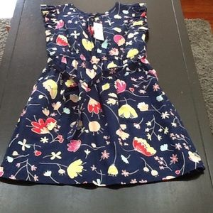 Gap Kids flower print dress NWT