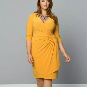 Kiyonna Dresses & Skirts - Ciara Cinch dress in Marigold